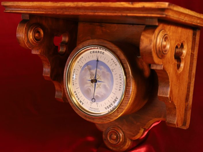 BOURDON & RICHARD SERIES 2 BAROMETER IN CLOCK BRACKET c1870