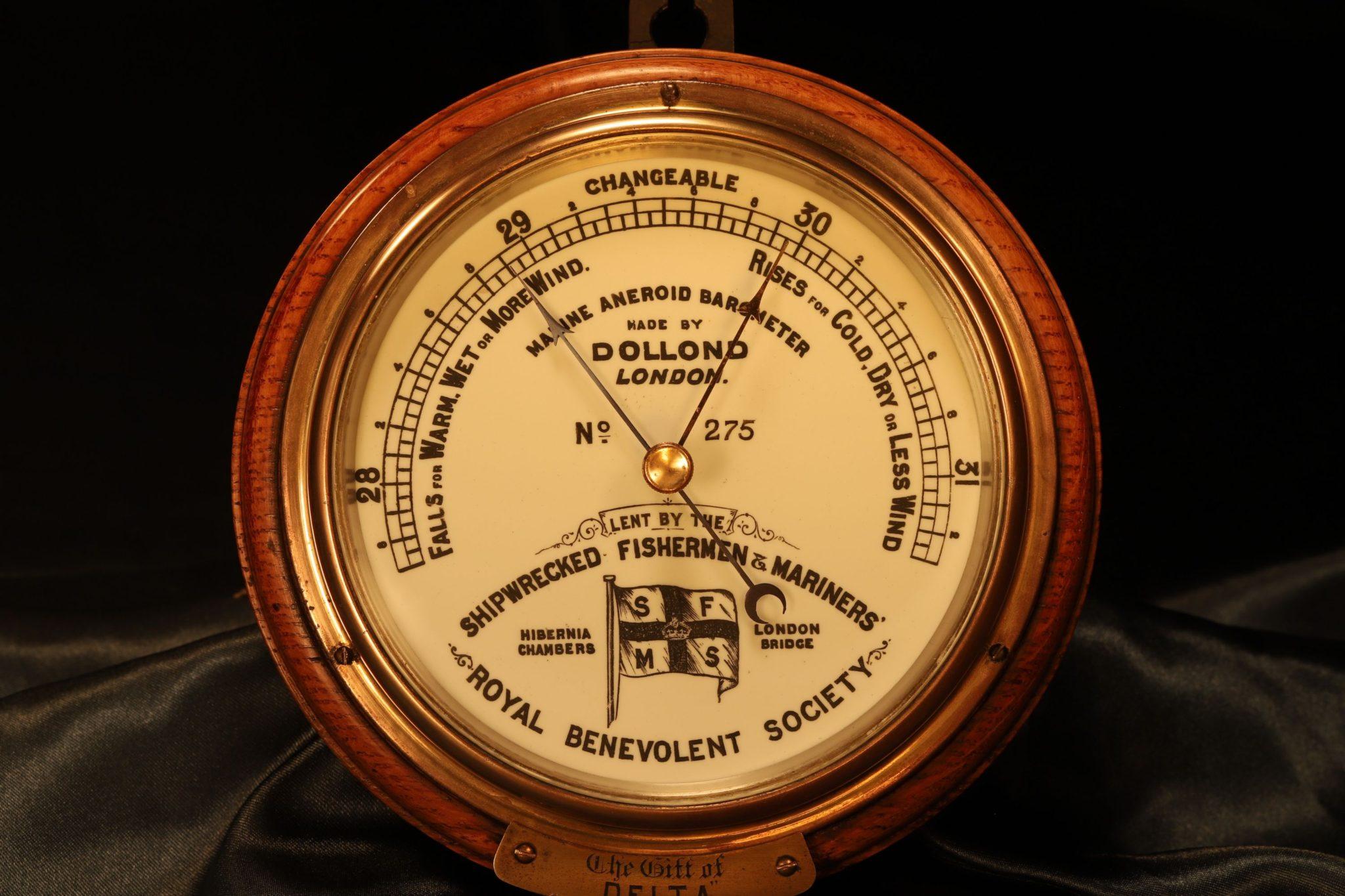 Image of Dollond Shipwrecked Fishermen & Mariners Society Marine Barometer No 275 c1882
