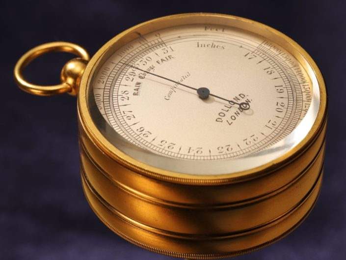 VICTORIAN POCKET BAROMETER THERMOMETER COMPASS COMPENDIUM BY DOLLOND c1868