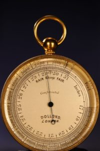 Image of Victorian Pocket Barometer Thermometer Compass Compendium by Dollond c1870