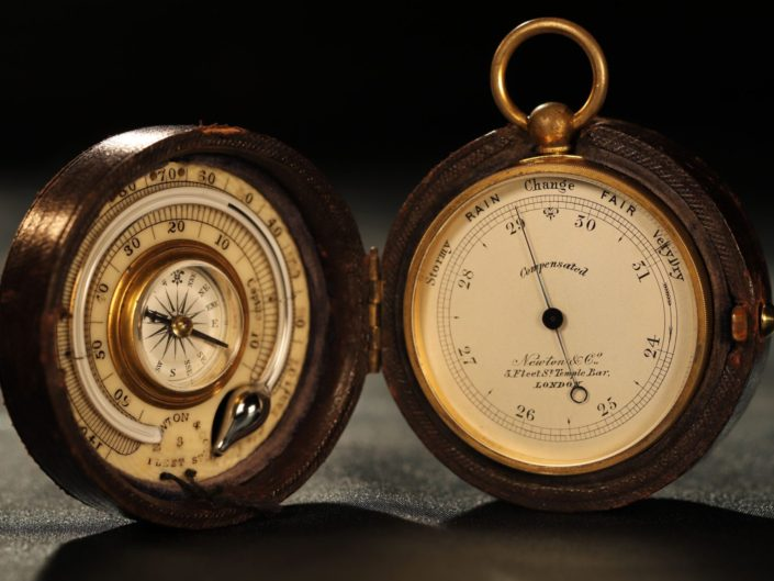 POCKET BAROMETER THERMOMETER COMPASS COMPENDIUM BY ELLIOTT FOR NEWTON c1865