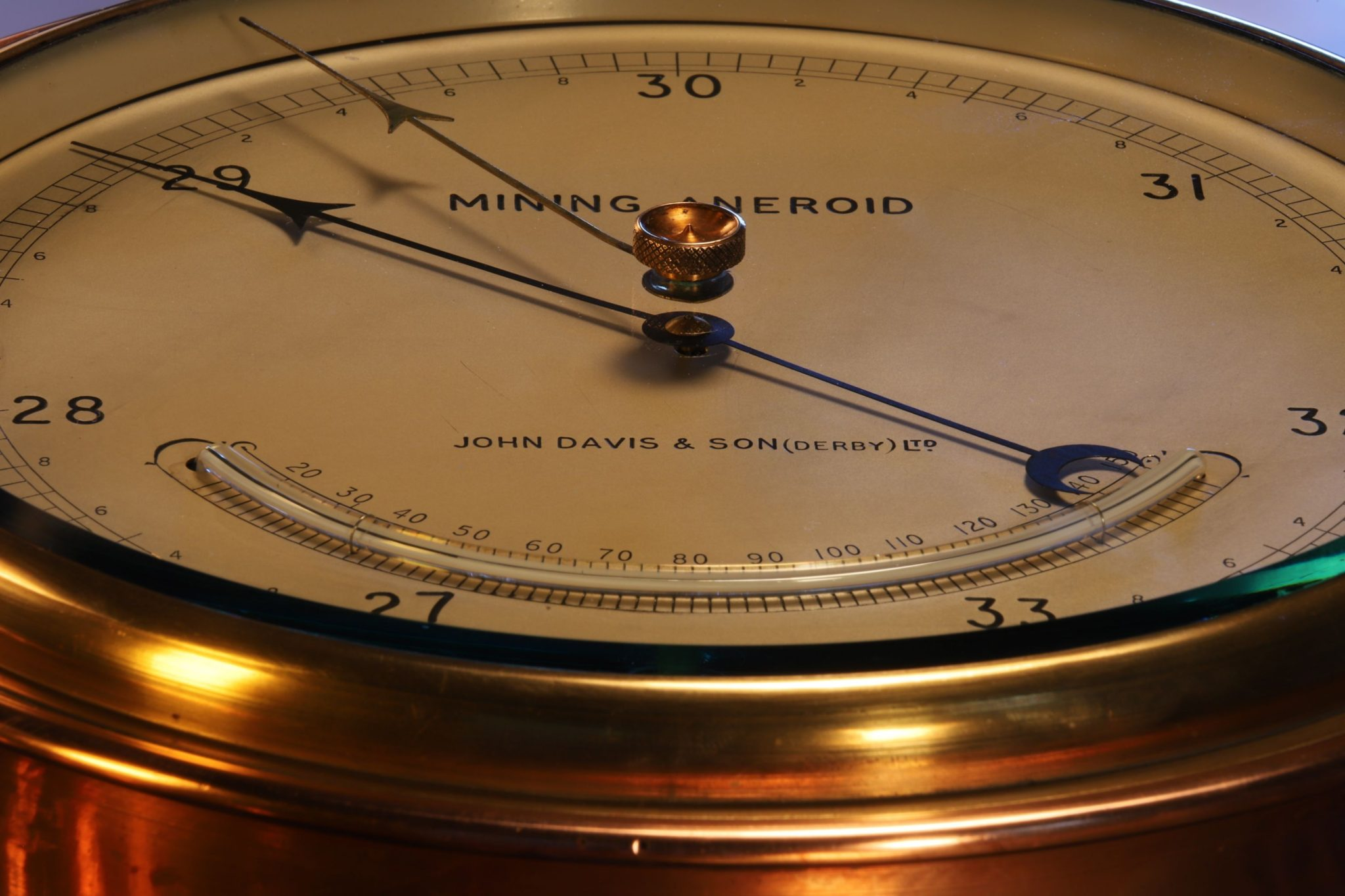 Image of Mining Aneroid Barometer by John Davis & Son (Derby) Ltd c1920s