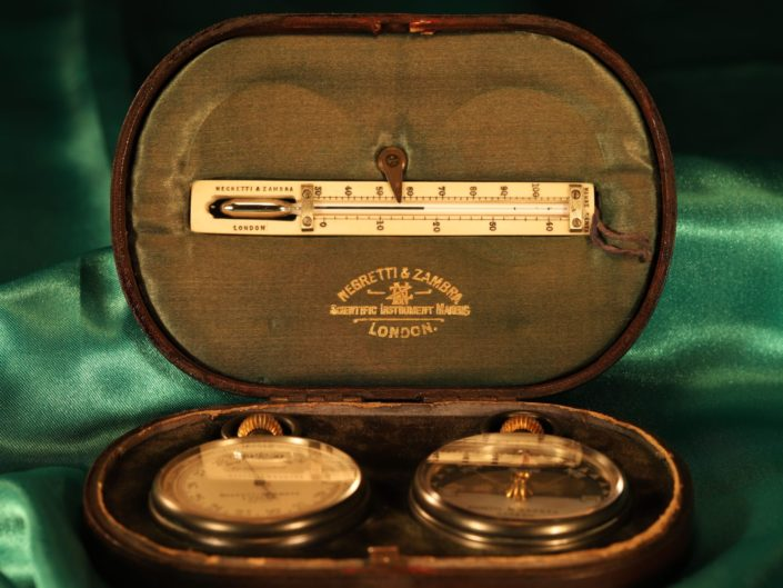 NEGRETTI & ZAMBRA POCKET BAROMETER COMPASS TRAVEL COMPENDIUM No 20140 c1910