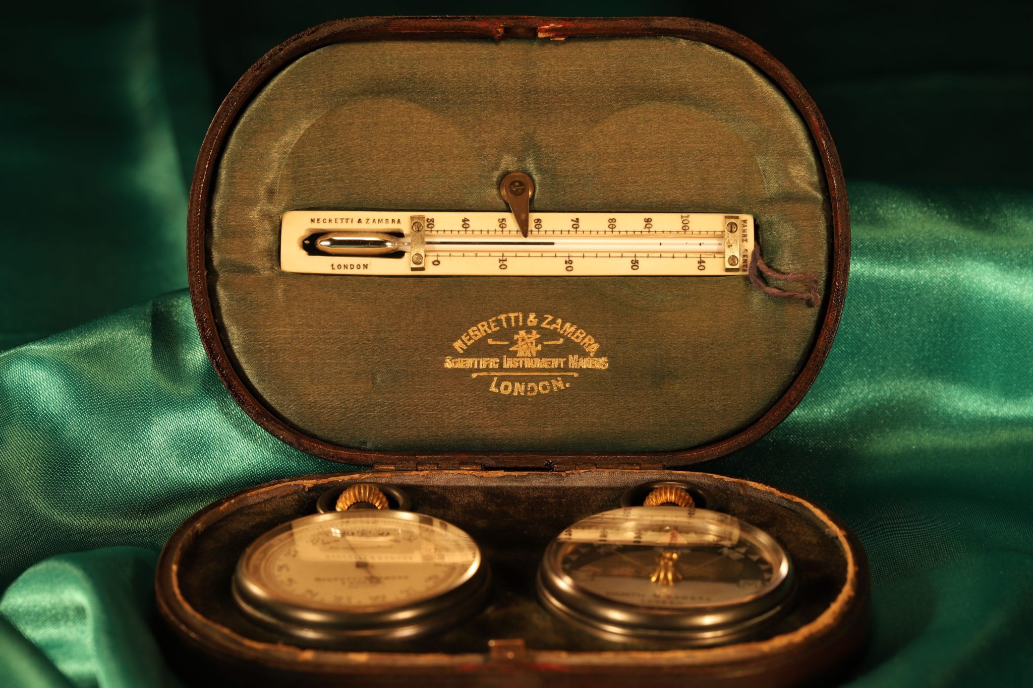 Image of Negretti & Zambra Pocket Barometer Travel Compendium No 20140 c1900
