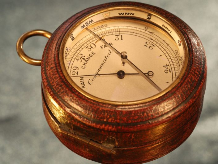 NEGRETTI & ZAMBRA POCKET BAROMETER ALTIMETER WITH MAGNIFYING COMPASS COMPENDIUM c1910