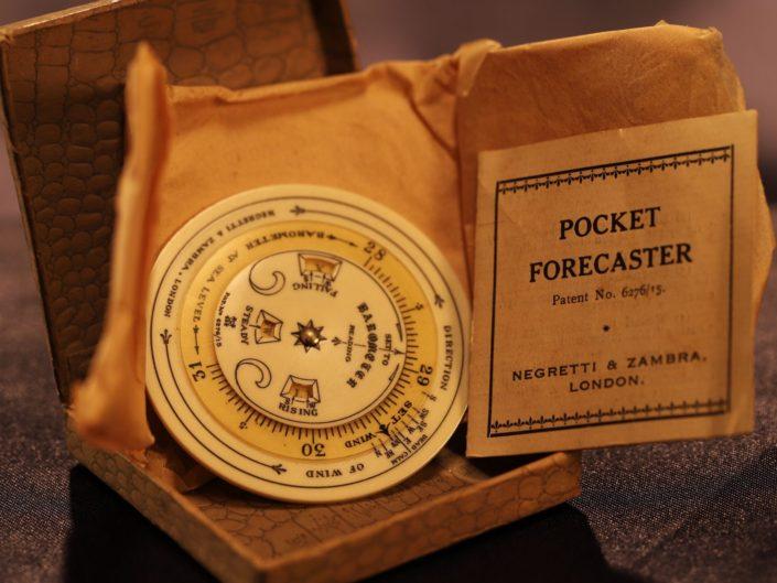 POCKET FORECASTER BY NEGRETTI & ZAMBRA c1925