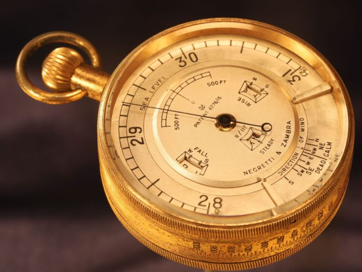 RARE WEATHER WATCH POCKET BAROMETER BY NEGRETTI & ZAMBRA No R/117 c1921