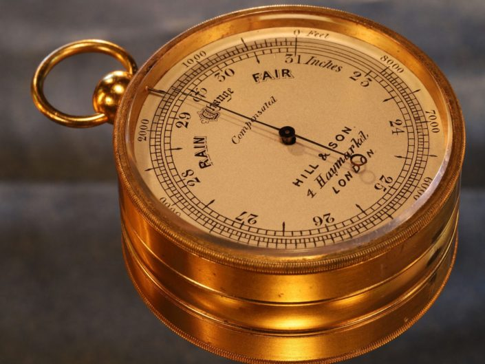 POCKET BAROMETER COMPENDIUM BY DOLLOND RETAILED BY HILL & SON c1870