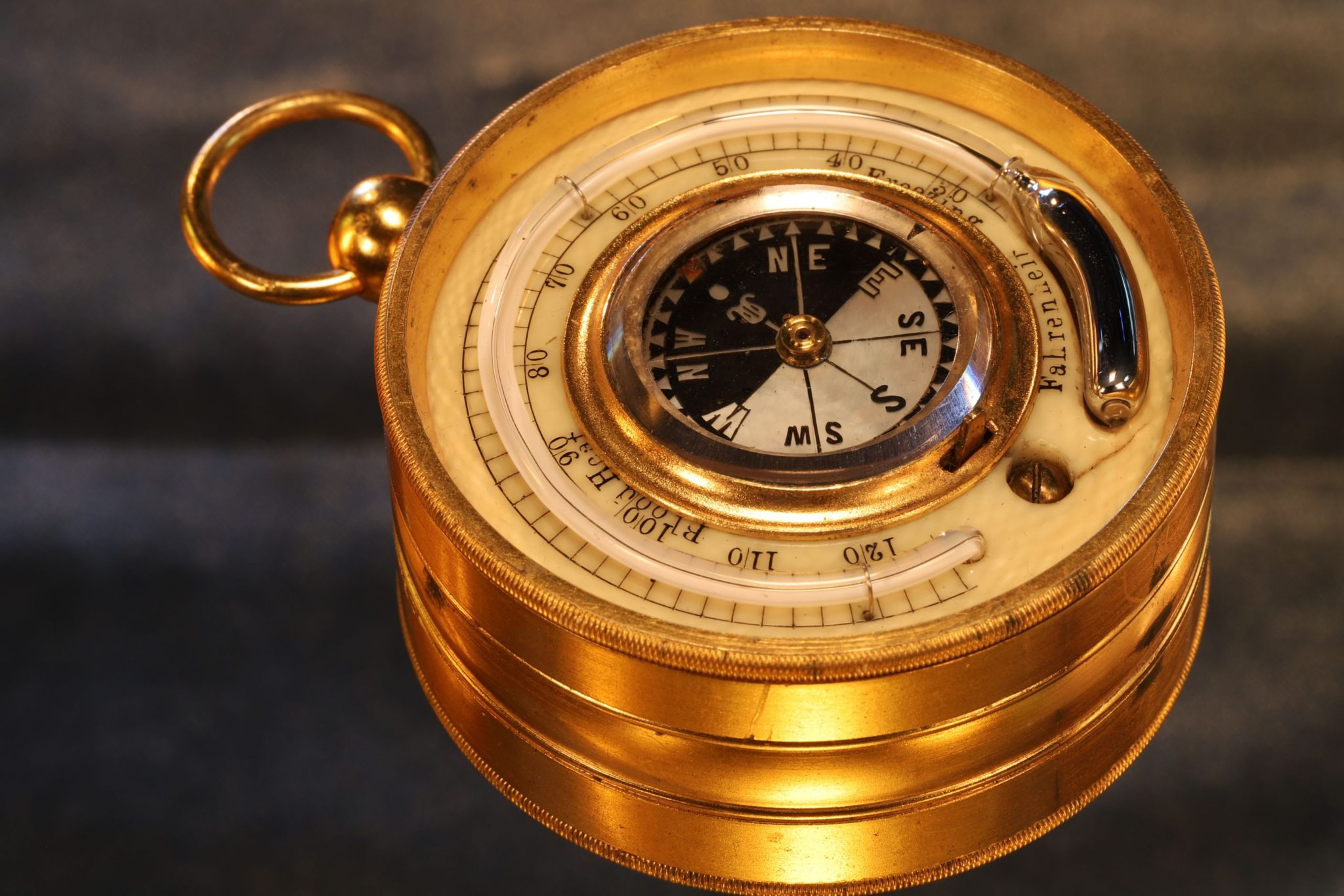 Image of Pocket Barometer Compendium by Dollond Retailed by Hill c1870