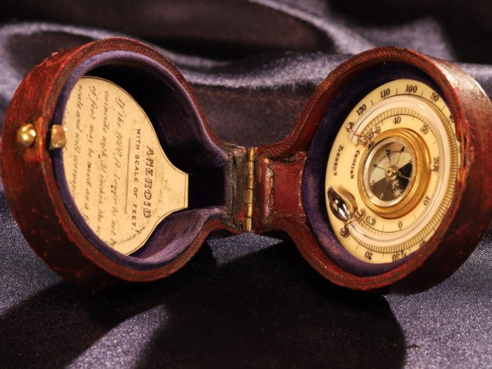 EARLY POCKET BAROMETER THERMOMETER COMPASS COMPENDIUM BY CALLAGHAN c1865