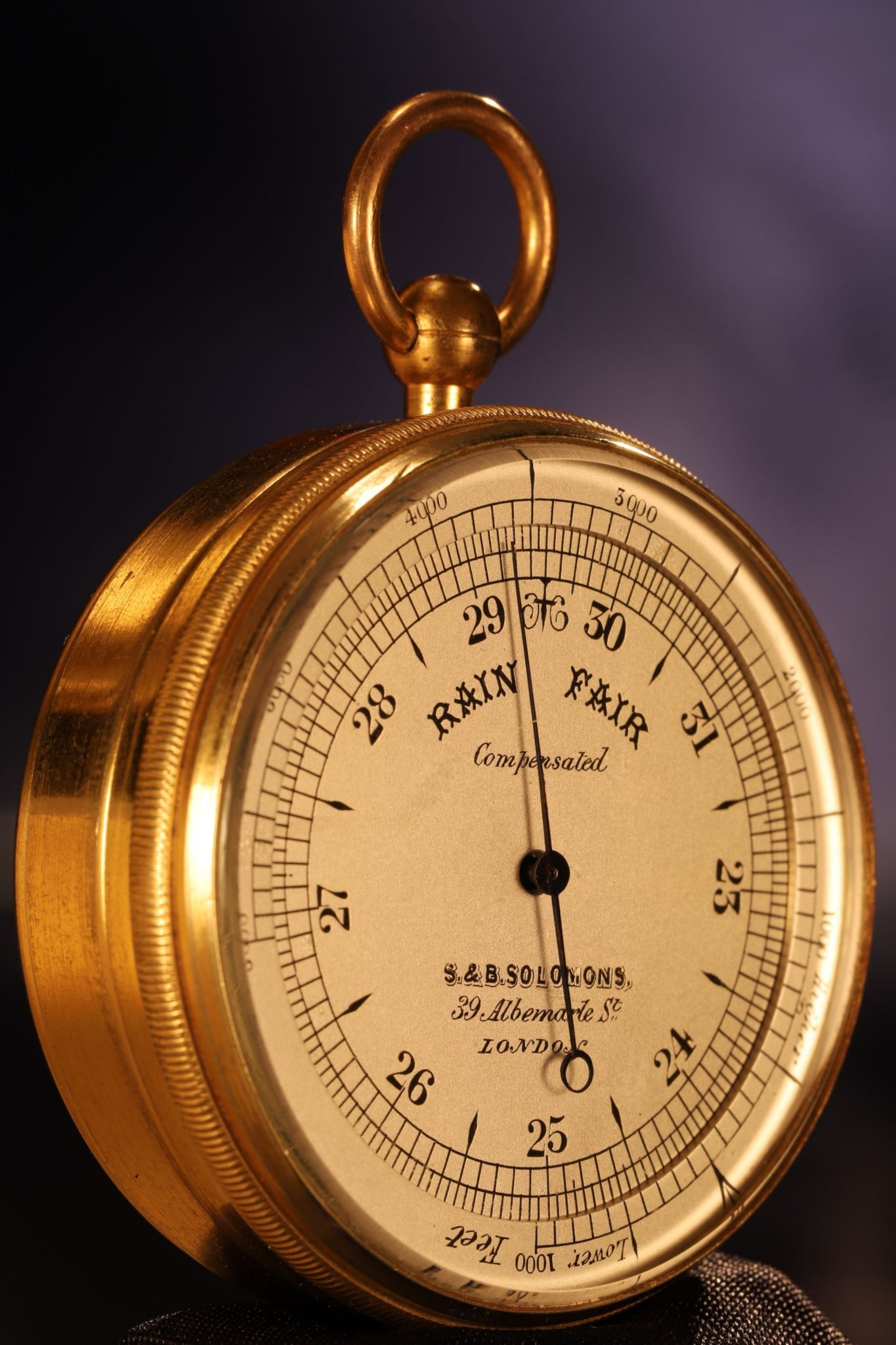 Image of Pocket Barometer Compendium by Callaghan Retailed by Solomon c1865