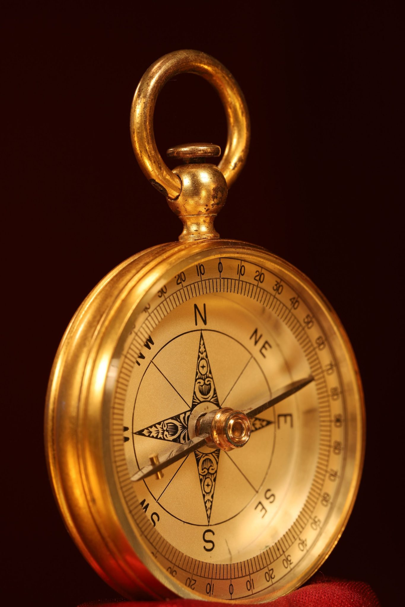 Image of Victorian Brass Compass c1890