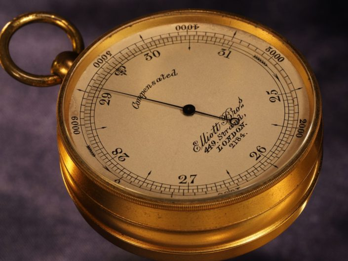 ANTIQUE POCKET BAROMETER BY ELLIOTT BROTHERS No 2184 c1875