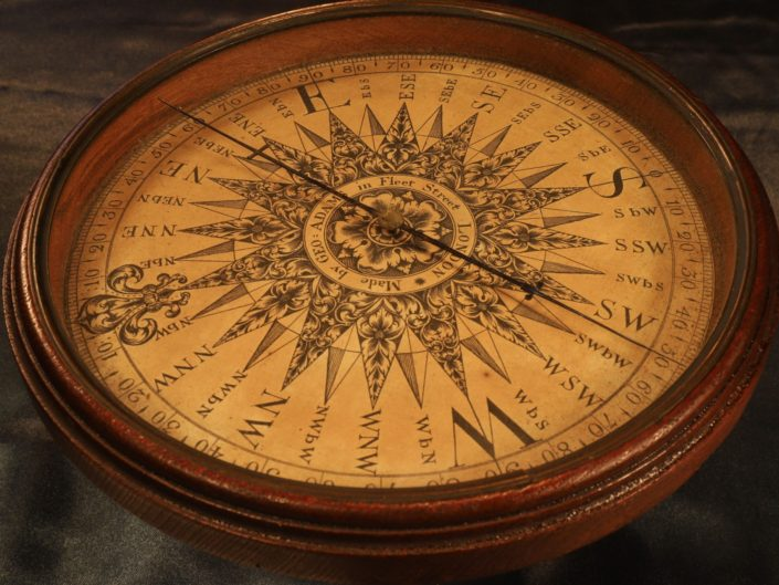VERY RARE GLOBE COMPASS BY GEORGE ADAMS c1775 - Sold