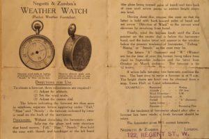 Image of Negretti & Zambra Weather Watch Instructions