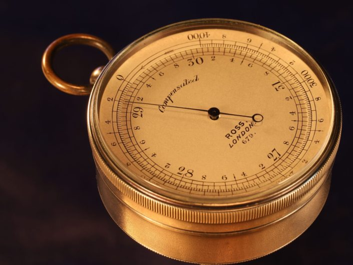 EARLY POCKET BAROMETER ALTIMETER BY ROSS No 679 c1875