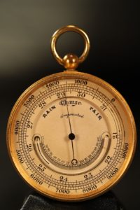 Image of Ross Pocket Barometer with Thermometer c1880
