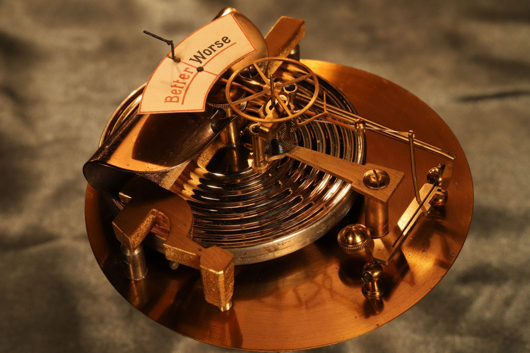 Image of Unusual Aneroid Forecasting Barometer c1920