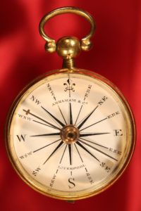 Image of Antique Pocket Compass by Abraham c1835