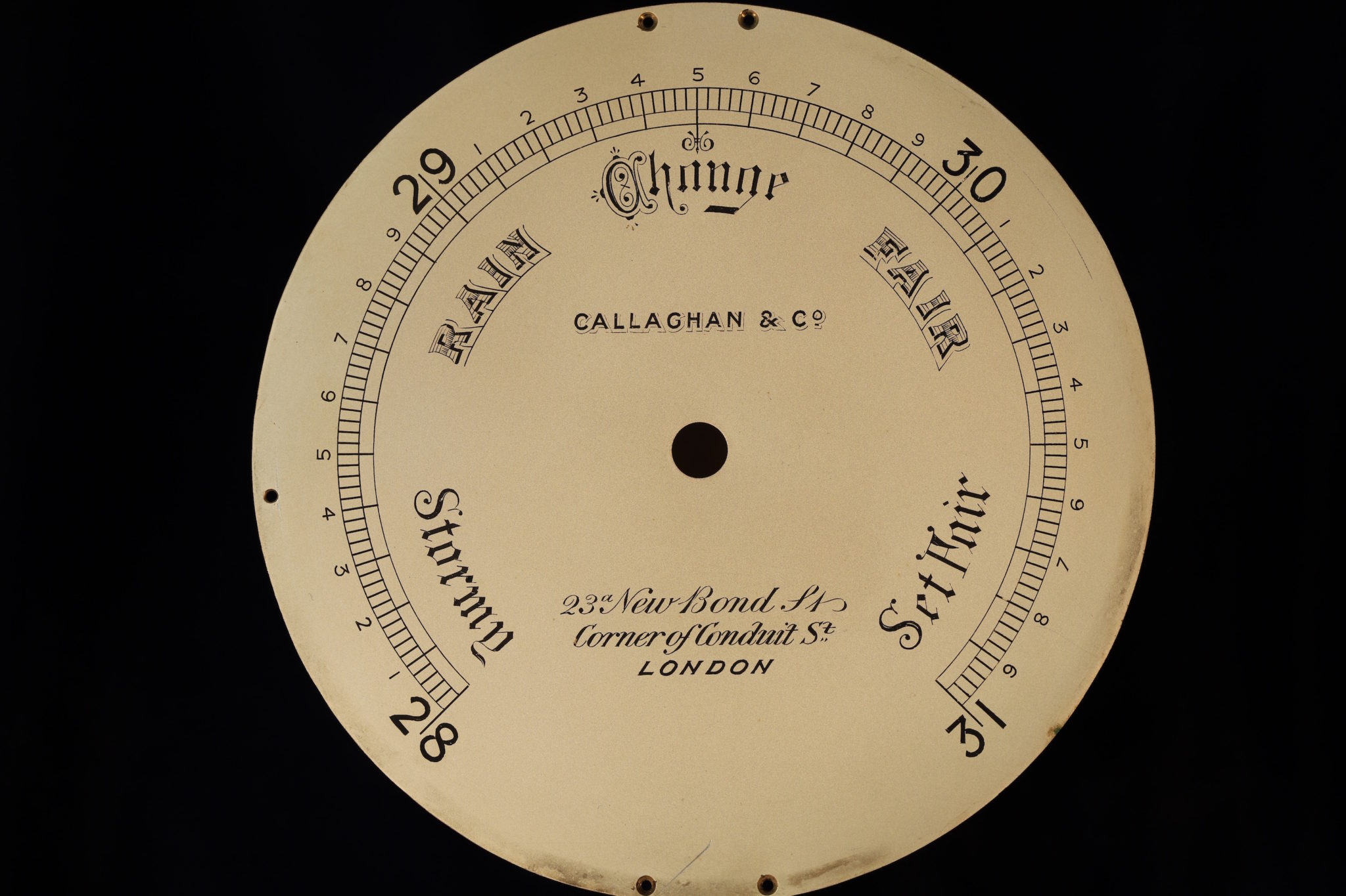 Image of Ships Barometer by Callaghan No 7224 c1870