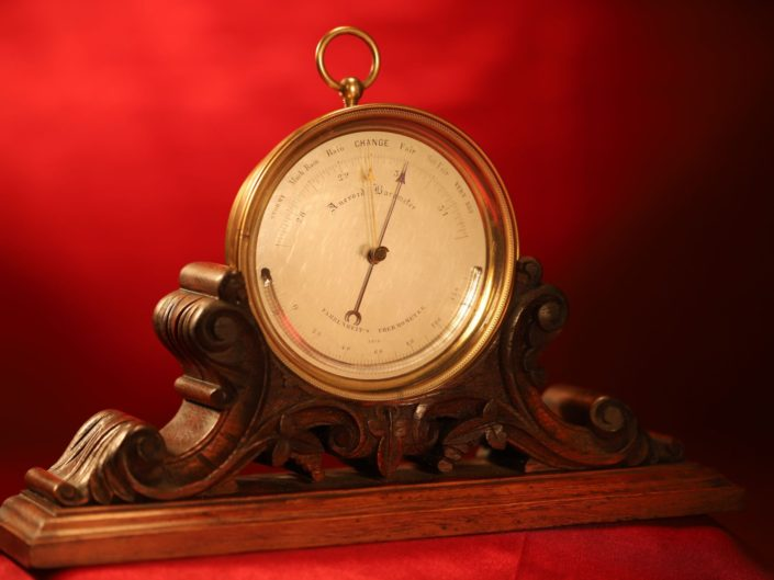EARLY ANEROID BAROMETER BY LUCIAN VIDI No 2575 MODIFIED AND RETAILED BY ELLIOTT c1849-59