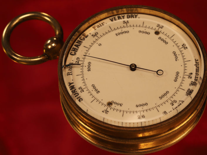 VERY RARE ANTIQUE POCKET BAROMETER BY ANTOINE REDIER c1875