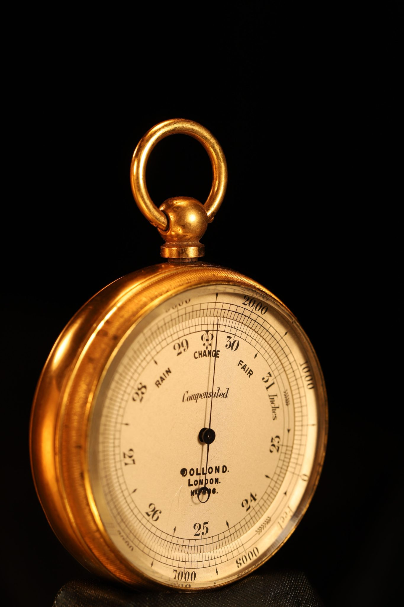 Image of Pocket Barometer Travel Compendium by Dollond No 7886 c1900