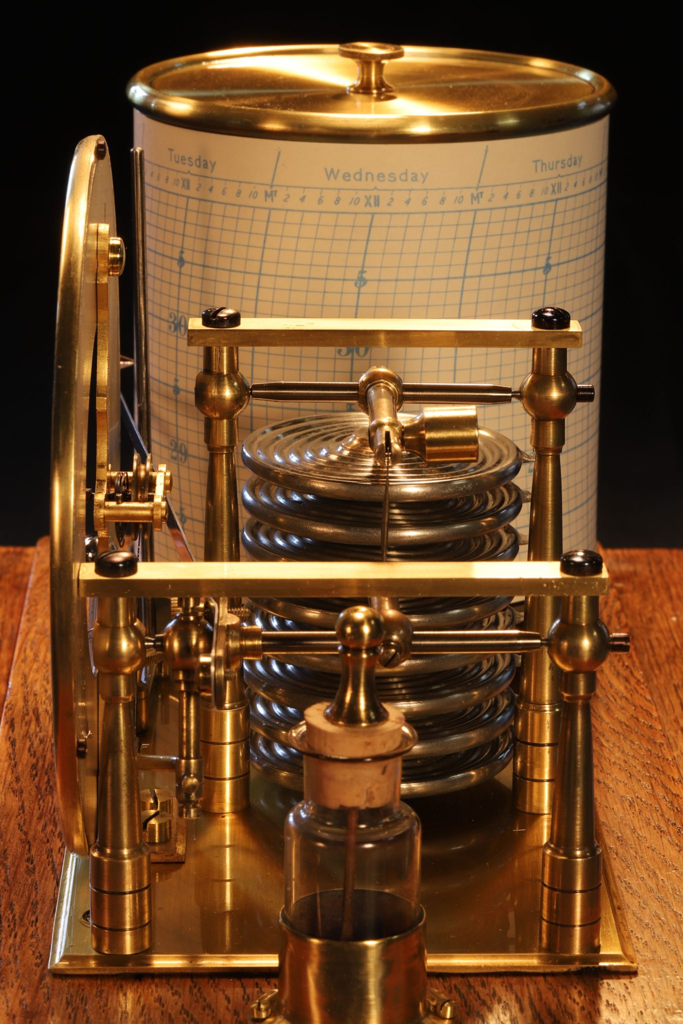 Image of Barograph with Barometer Dial c1920