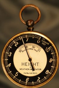 Image of Height & Weather Indicator Pocket Barometer Altimeter by Short & Mason c1935