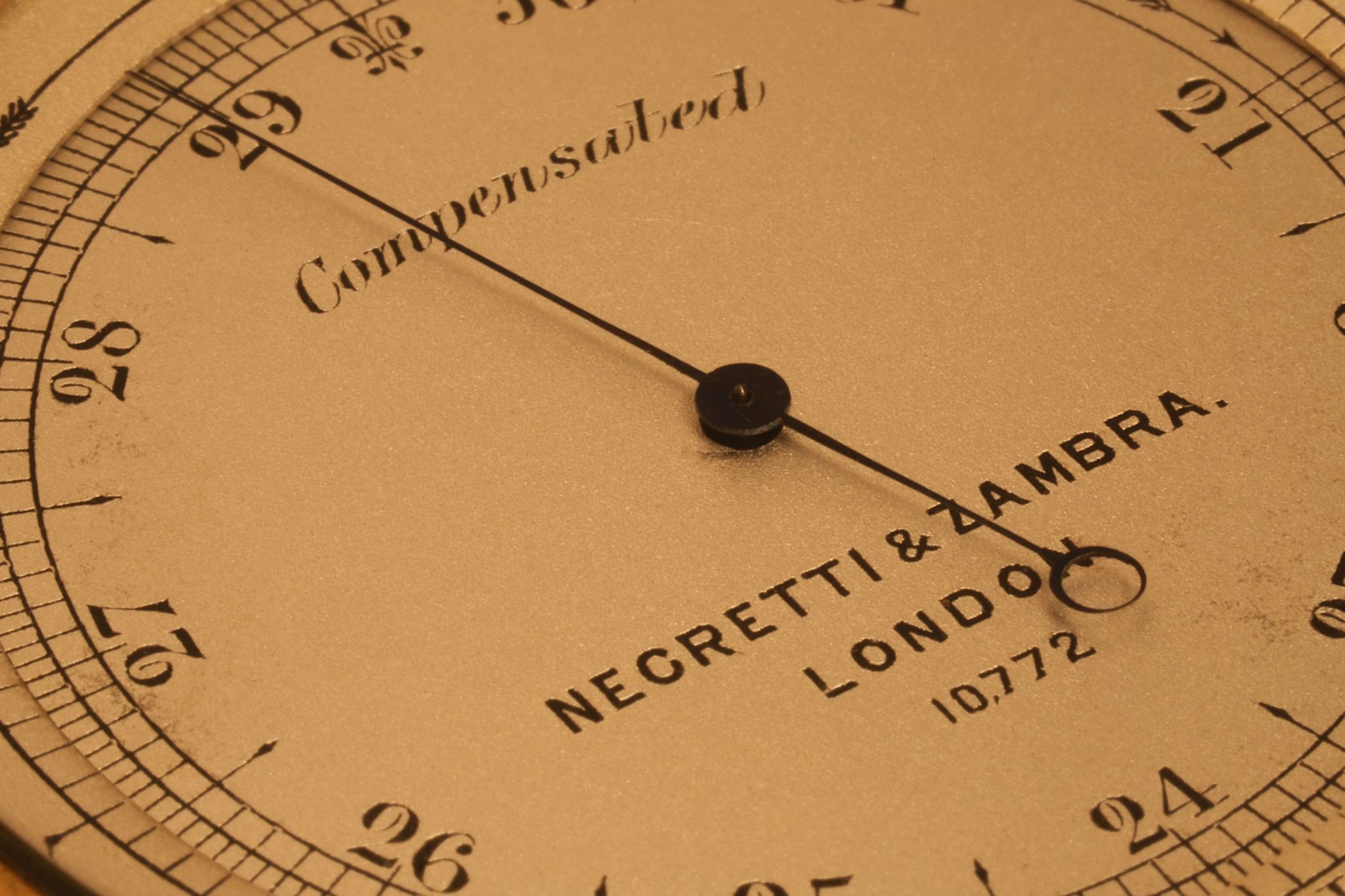 Image of Negretti & Zambra Pocket Barometer Compendium No 10772 c1880