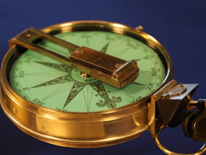 ANTIQUE SURVEY OR ARTILLERY COMPASS BY CARY c1845