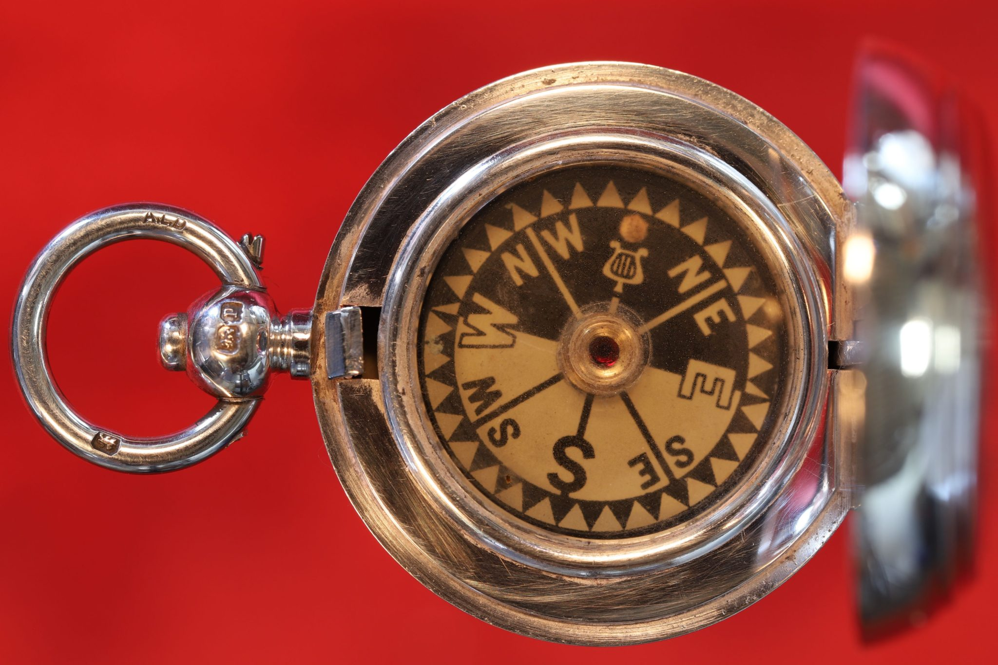 Image of Miniature Silver Compass by Dennison No 838 c1915