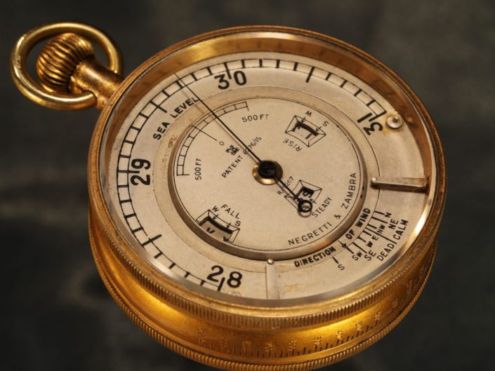 WEATHER WATCH POCKET BAROMETER BY NEGRETTI & ZAMBRA No R/5267 c1925