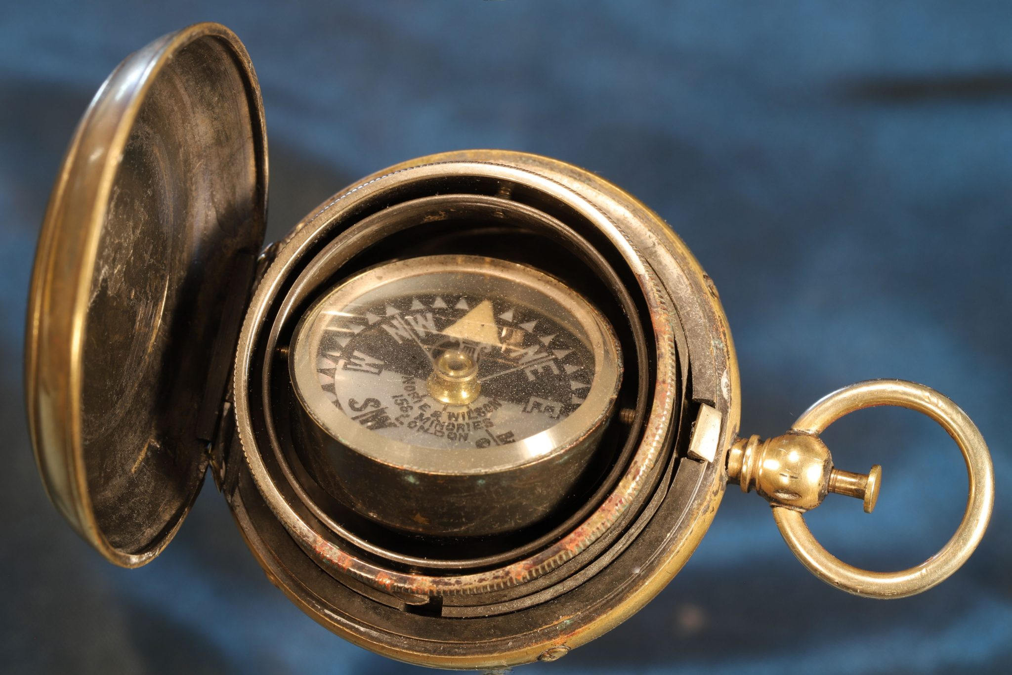 Image of Barker Gimballed Compass c1885