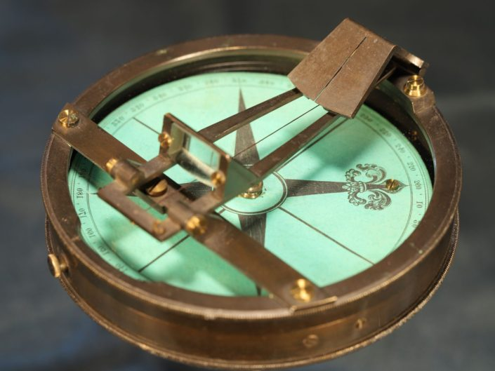 UNUSUAL PRISMATIC SURVEYORS COMPASS c1870