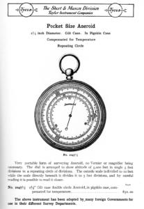 Image of Short & Mason Catalogue 1911 - Pocket Size Aneroid, Repeating Circle