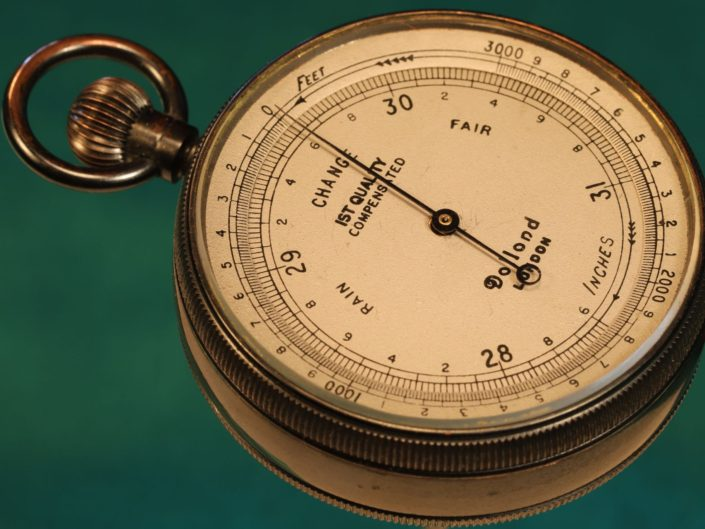 ANTIQUE POCKET BAROMETER ALTIMETER BY DOLLOND c1915