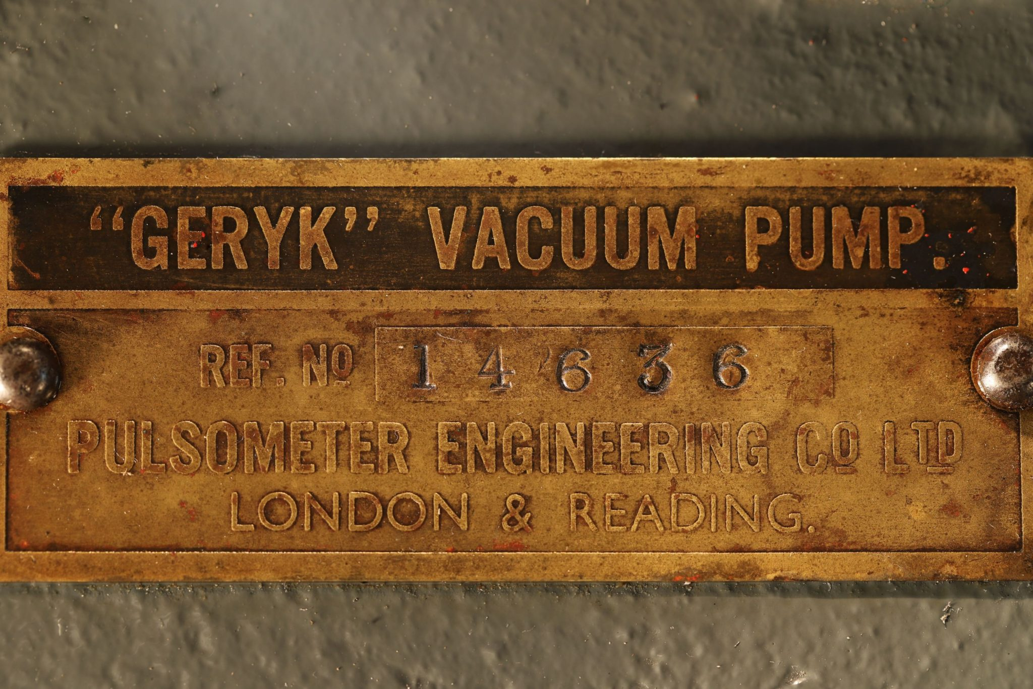 Image of Geryk Vacuum Pump No 14636