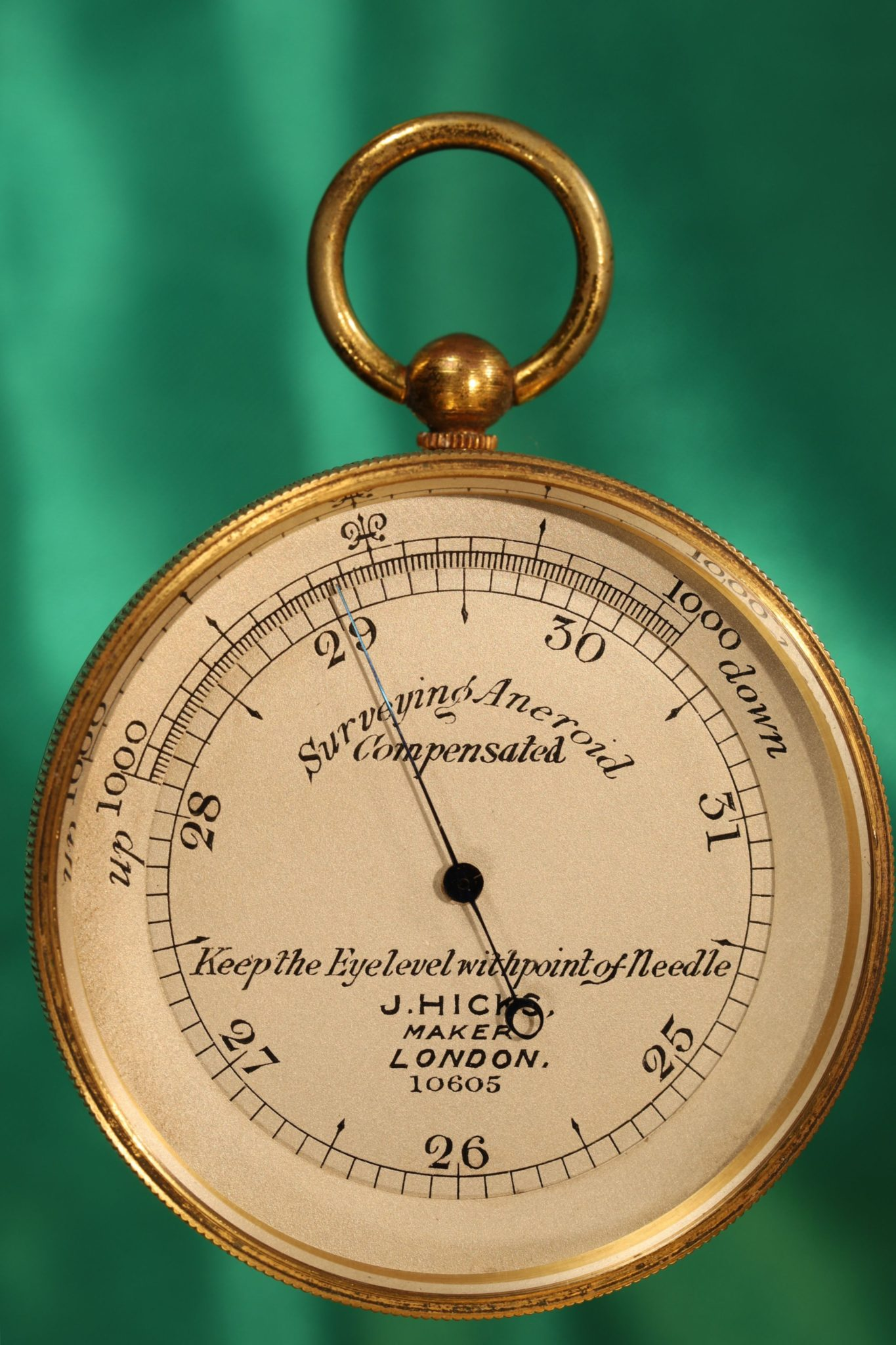 Image of Hicks Surveying Pocket Barometer No 10605