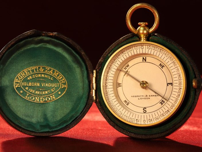 VERY RARE NEGRETTI & ZAMBRA ANTIQUE COMPASS c1895