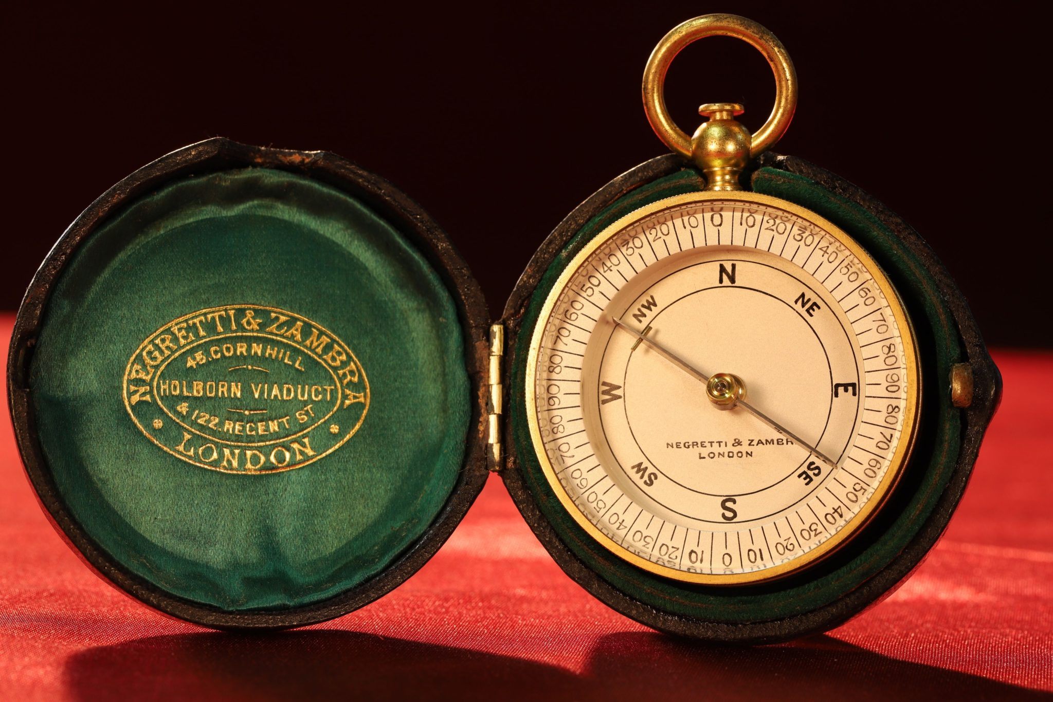 Image of Negretti & Zambra Pocket Compass c1895
