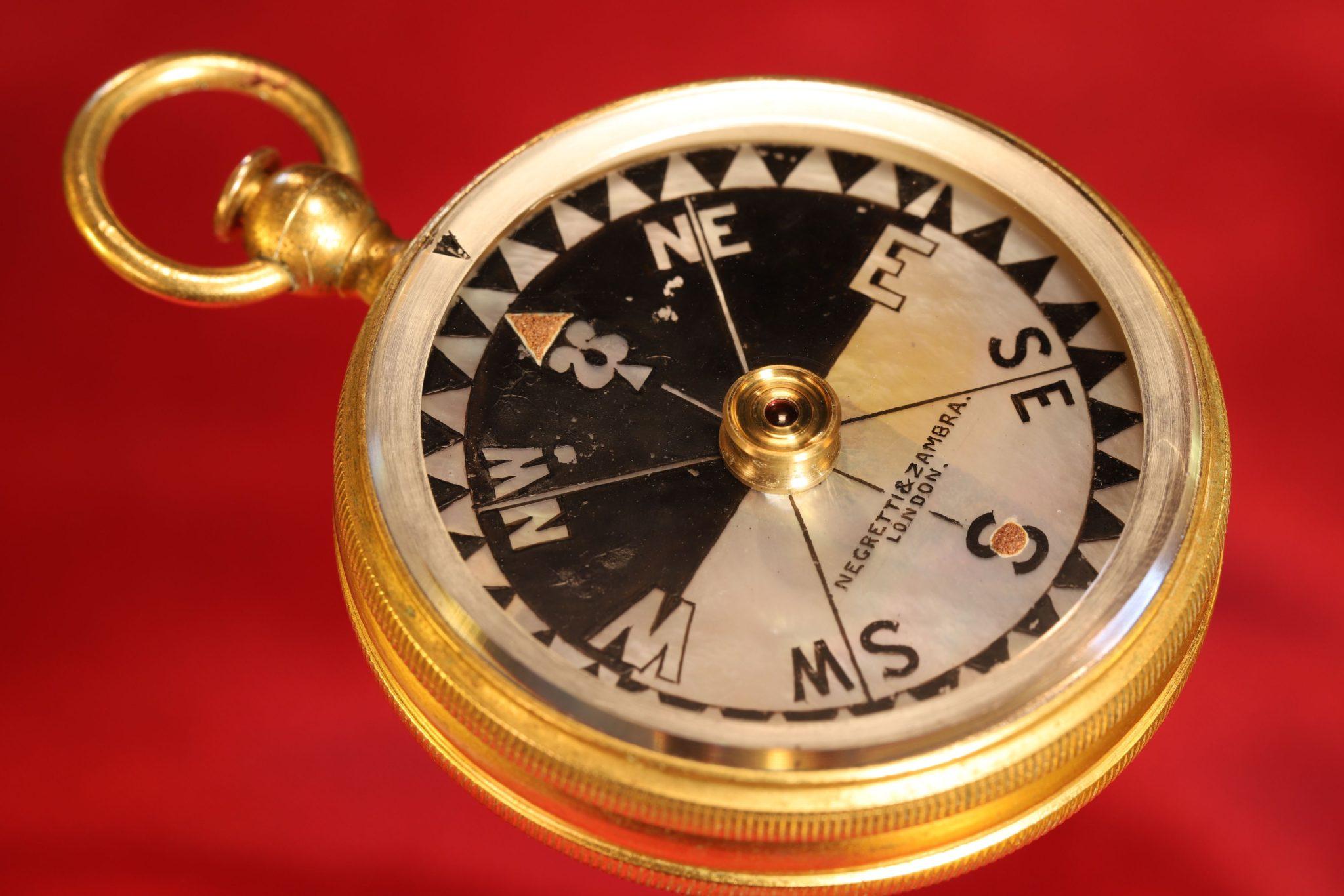 Image of Negretti & Zambra Pocket Barometer Travel Compendium No 8403