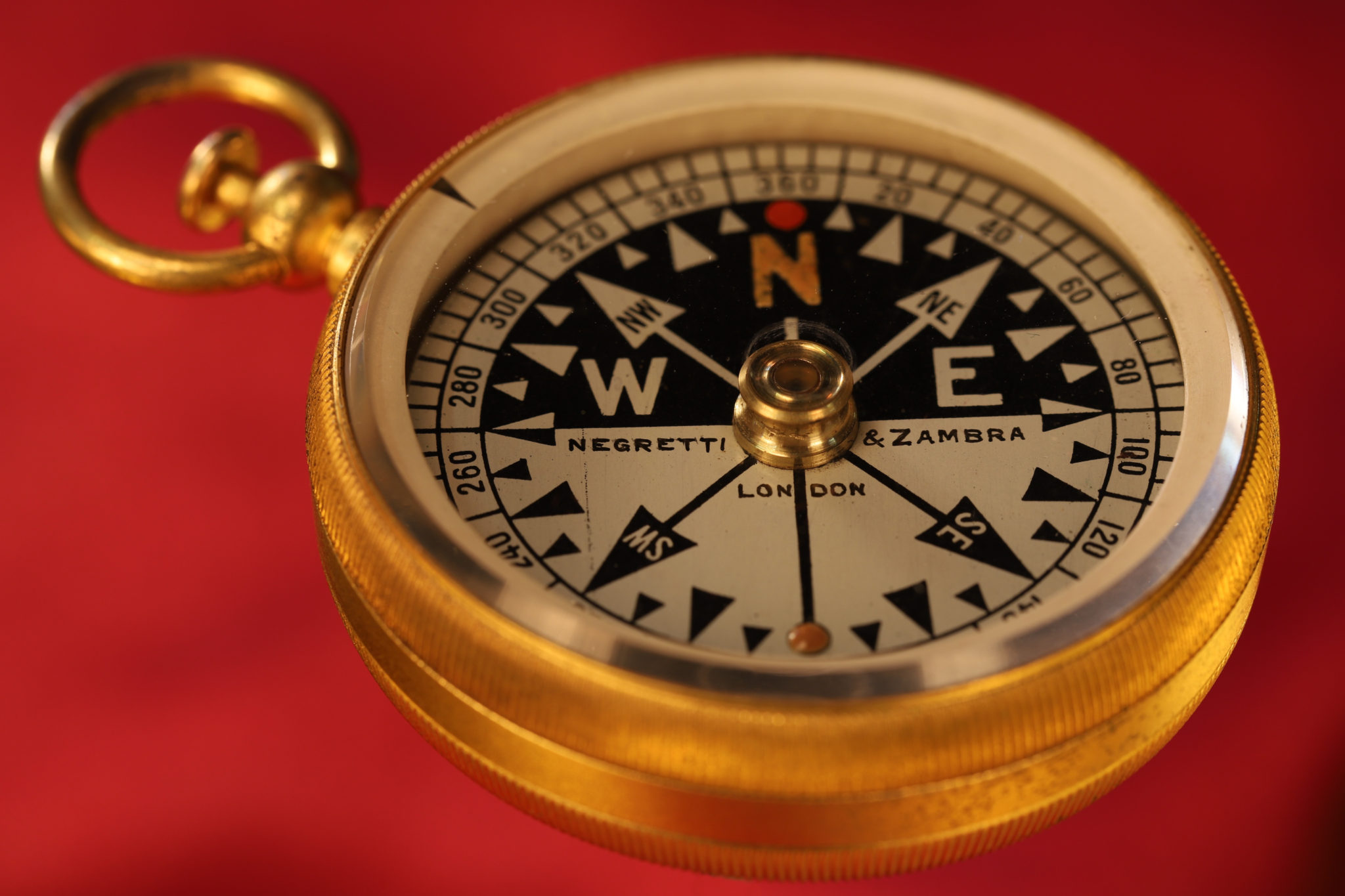 Image of Negretti & Zambra Pocket Compass with RGS Dial c1905