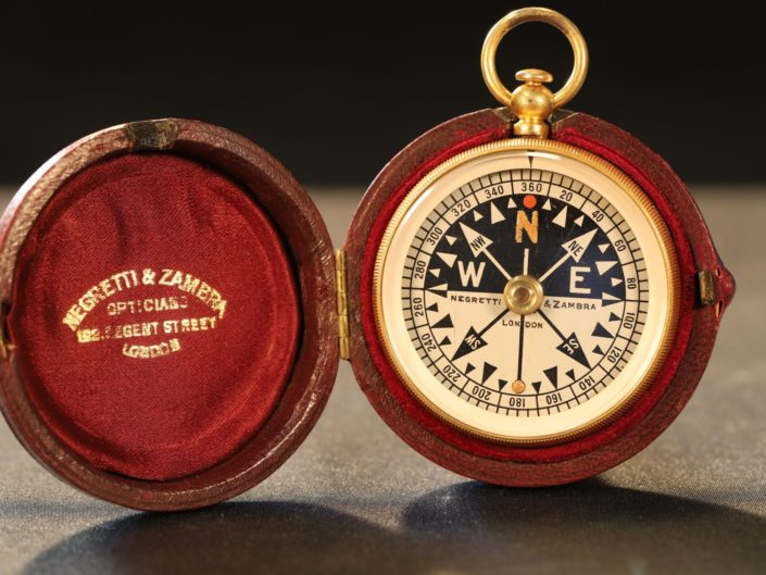 ANTIQUE COMPASS BY BARKER FOR NEGRETTI & ZAMBRA c1905