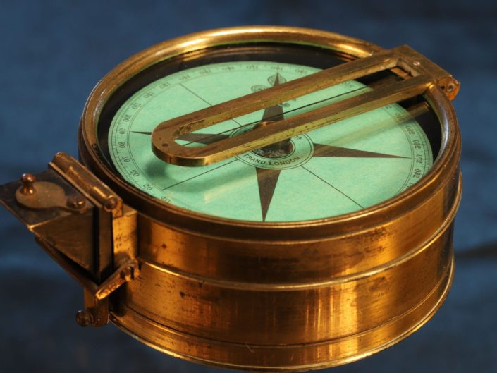 POLES CLINOMETER AND COMPASS BY ELLIOTT No 27 c1865 - Sold