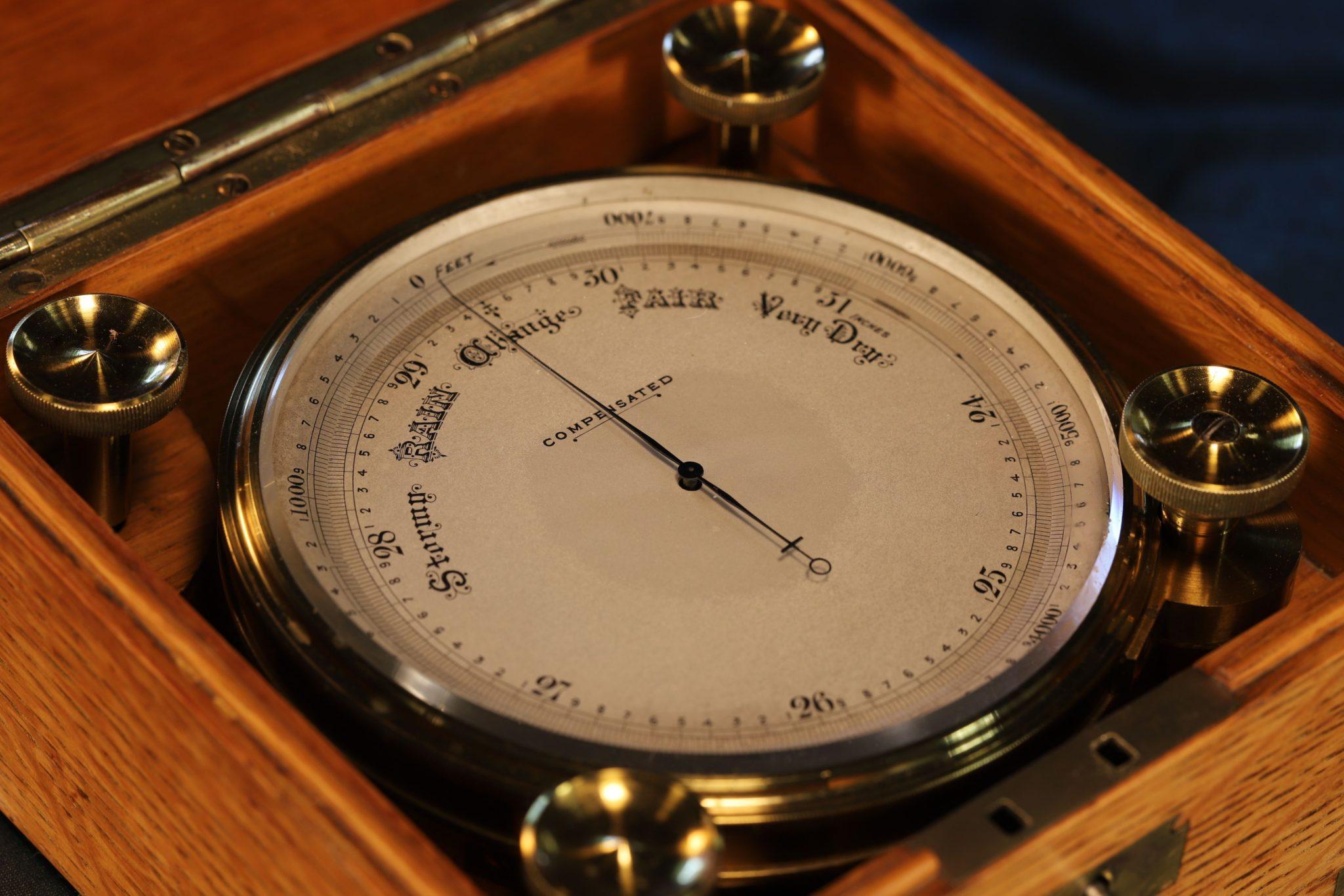 Image of Short & Mason Chart Table Marine Barometer c1875