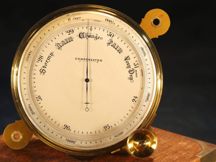 CHART TABLE MARINE BAROMETER BY SHORT & MASON c1875 - Sold
