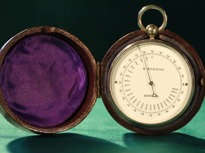 ANTIQUE SWISS POCKET BAROMETER COMPENDIUM BY BENZONI c1900 - Sold