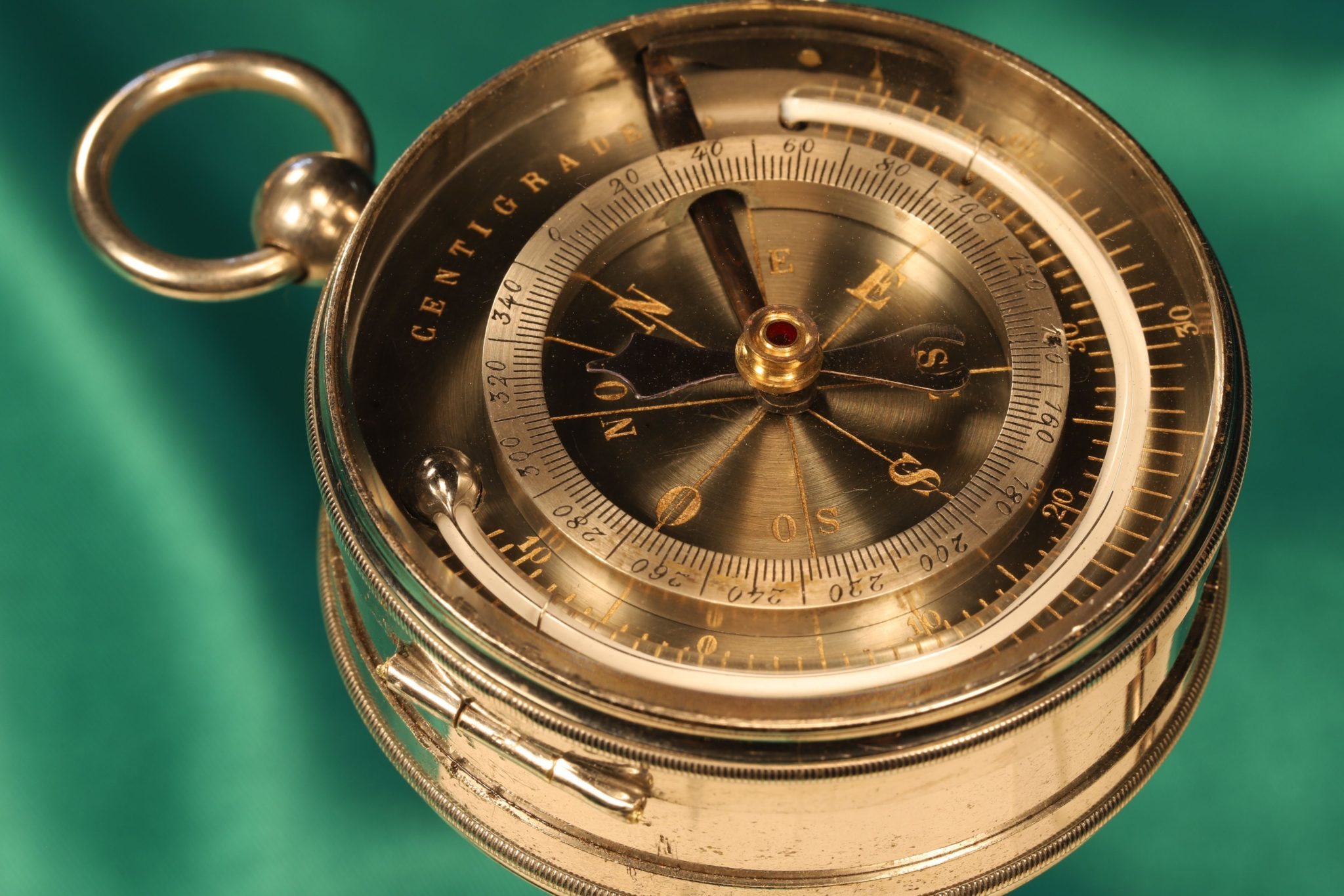 Image of Pocket Barometer Altimeter Compass Thermometer Compendium by Benzoni