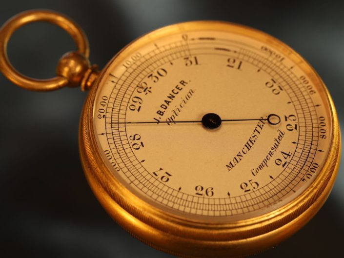 ANTIQUE POCKET BAROMETER BY NEGRETTI & ZAMBRA FOR DANCER c1870 - Sold